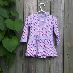 Purple Heart Shaped babydoll hoodies top 12-18M